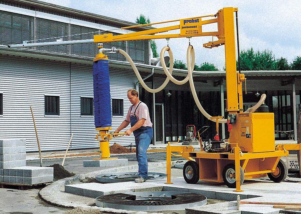 Instalatie cu vacuum pentru montaj dale JUMBOMOBIL JM