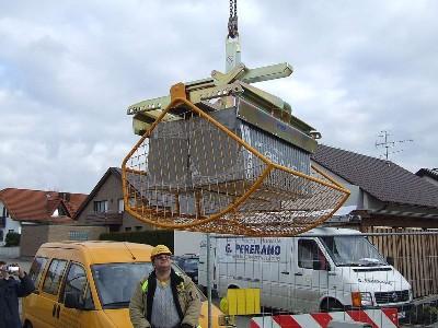 Manipulare elemente pentru acoperis